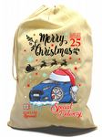 X-Large Cotton Drawcord Koolart Christmas Santa Sack Stocking Gift Bag & New Mk3 Focus ST Image